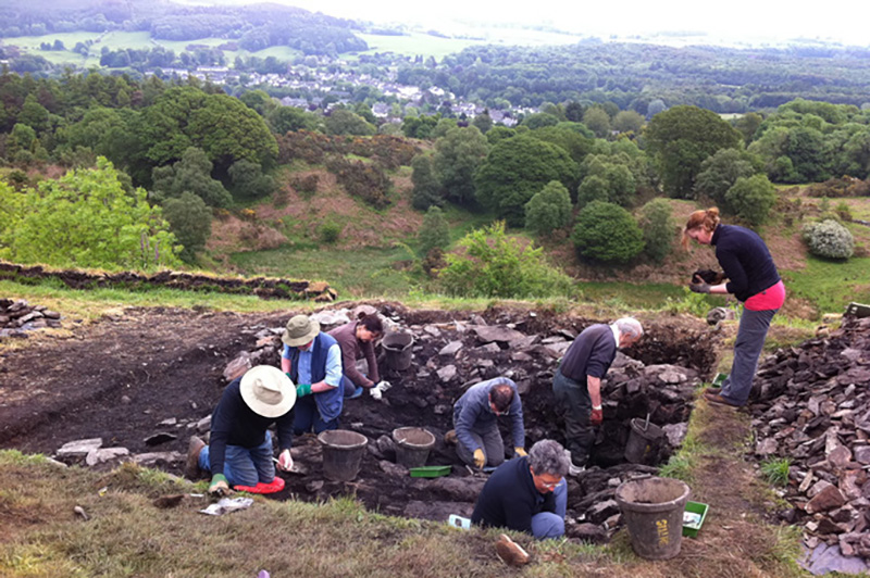 Excavations at Trustys Hill