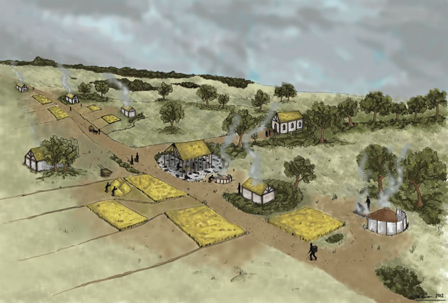 reconstruction of Gogar Village in Edinburgh