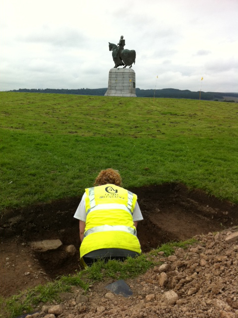 digging at Bannockburn