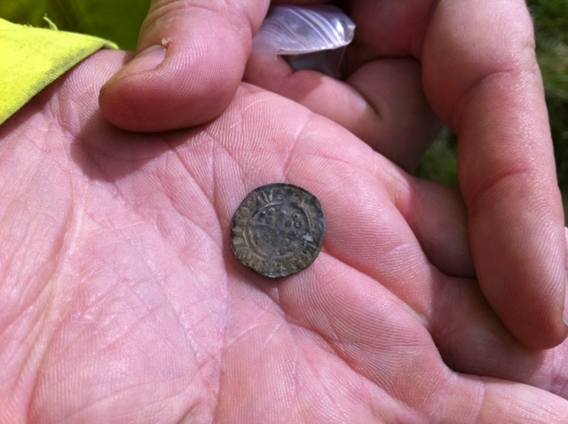 Edward I/II coin recovered during the 2012 dig