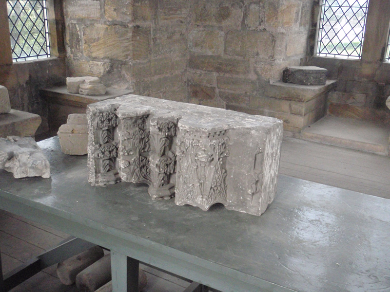 Carved masonry from Cambuskenneth Abbey